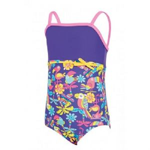 Zoggs Girls Jungle Fun Classicback Swimsuit